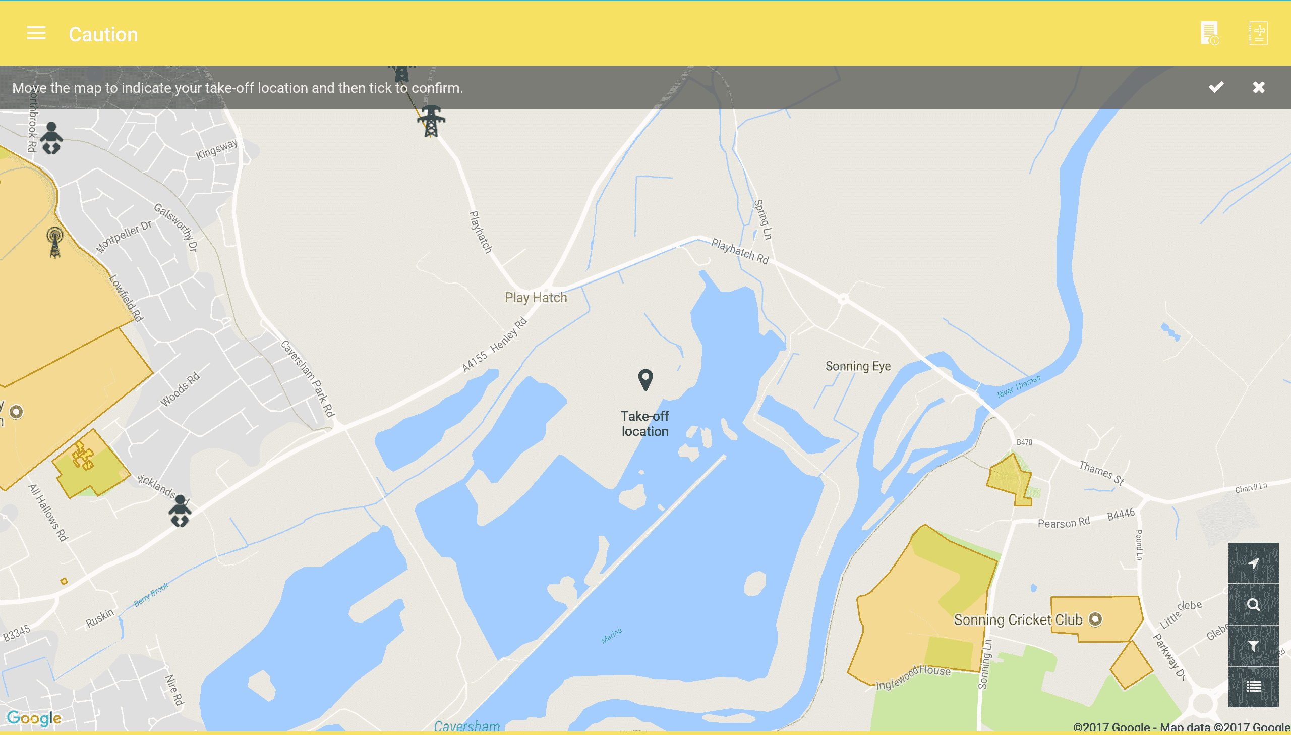 Screenshot of Caution Map