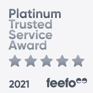 Feefo Platinum Service 2021 Badge