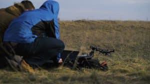 Men Organising Drone Take Off