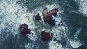 Aerial Shot Sea and Rocks