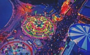 Aerial Photo of Bright Fairground