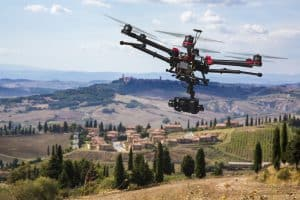 Drone Flying Above Tuscany