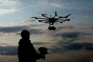 Pilot Flying Drone