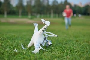 Crashed Drone In Field