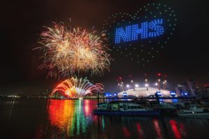London New Years Eve NHS SKYMAGIC Drone Light Show