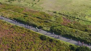 Aerial Shot Cycle Race