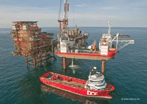 Construction Ship in Sea