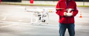Drone Operator Taking Flight Examination