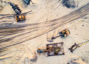 Aerial Shot Of Mining Yard