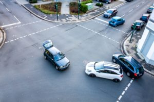 Three Cars in Car Accident
