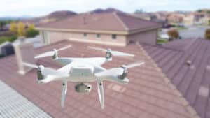 Drone Inspecting Roof