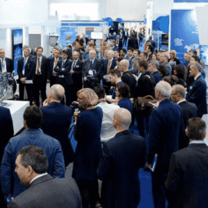 People attending DroneX Tradeshow and Conference at the ExCel, London, Uk