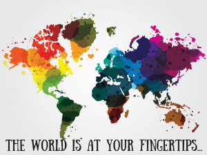 Abstract Colourful Worldwide Map