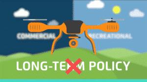 Cartoon of Orange Drone Flying