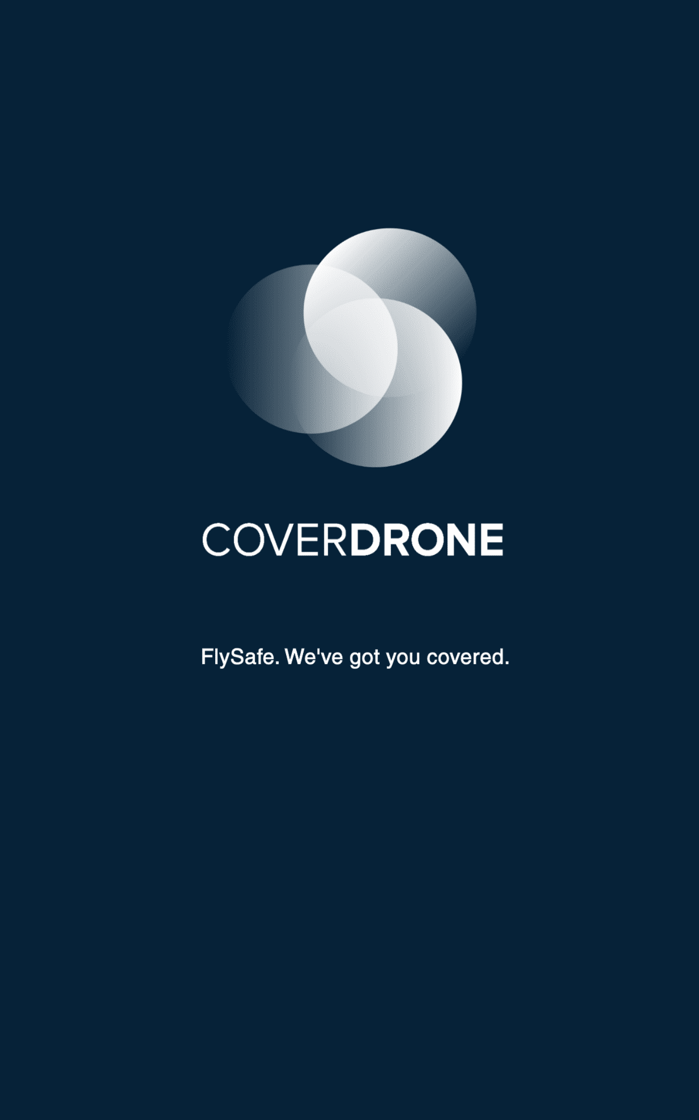 Coverdrone Logo on Blue Background