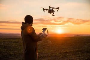 Drone Operator at Sunset