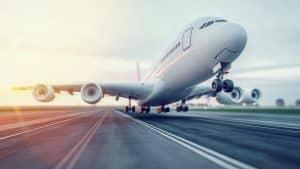 Aeroplane Taking Off From Runway