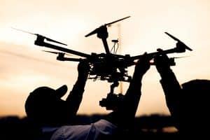 Drone Pilots Launching Drone