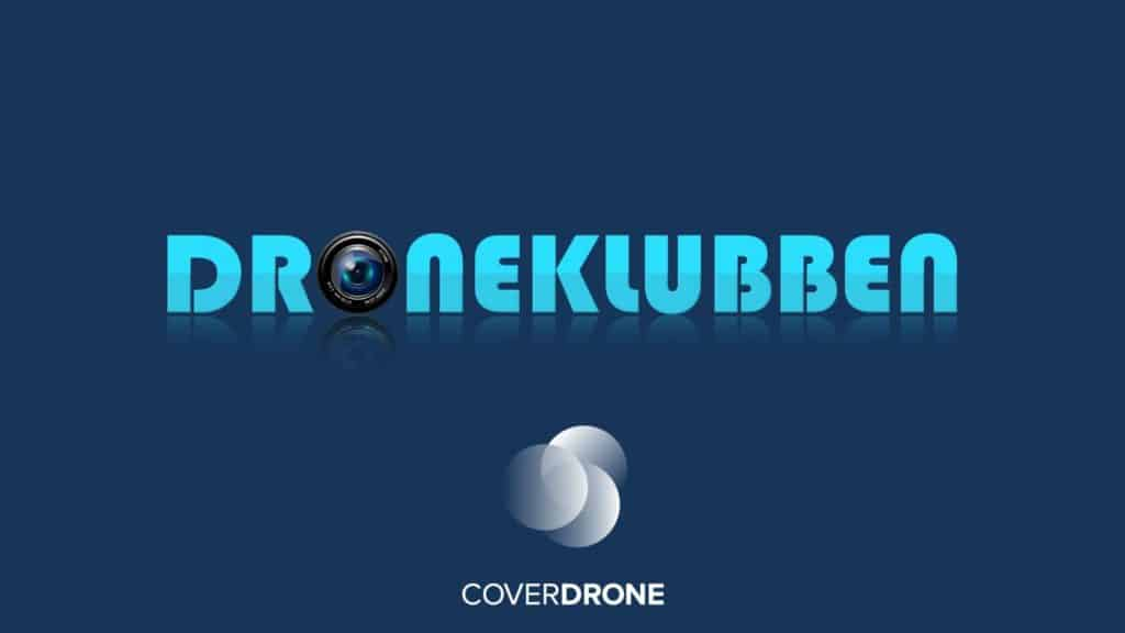 Droneklubben logo in partnership with Coverdrone