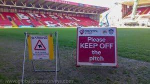 Warning Signs at Bristol Stadium