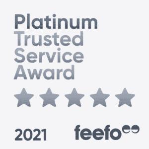 Feefo Platinum Service 2021 Badge