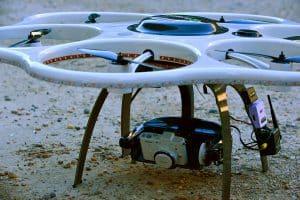 Large White Drone on Land