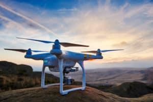 Drone On Mountain