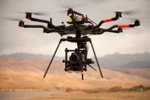 Drone Flying Above Dessert
