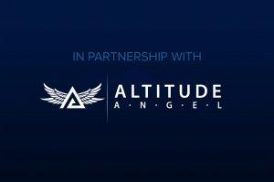 Altitude Angel Logo on Blue Background