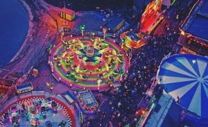 Aerial Photo of Bright Fairground