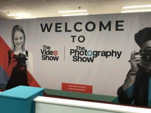 Photography Show 2019 Welcome Sign