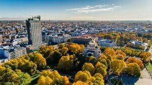 Aerial Shot of City Park