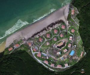 Aerial Photo House Estate by Sea