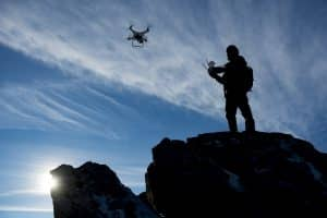 Drone Pilot Flying Drone