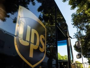 UPS Delivery Truck with Logo