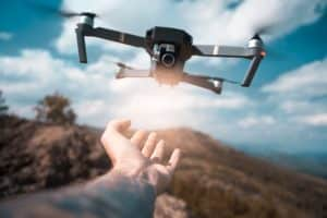 Drone Pilot Launching DJI Drone