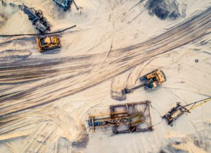Aerial Shot Of Mining Site