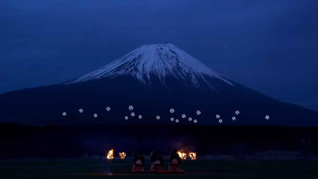 Mount Fuji Drone Japan