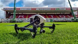 Drone at Bristol Football Stadium