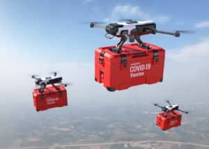 Drones delivering coronavirus vaccines