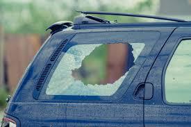 Broken Window in Car
