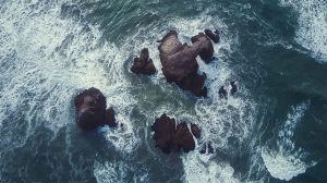 Aerial Shot Sea and Rocks