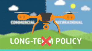 Cartoon of Orange Drone Flying