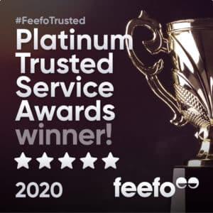Feefo Platinum Service Award 2020
