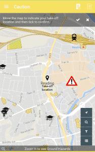 Screenshot of Flysafe App