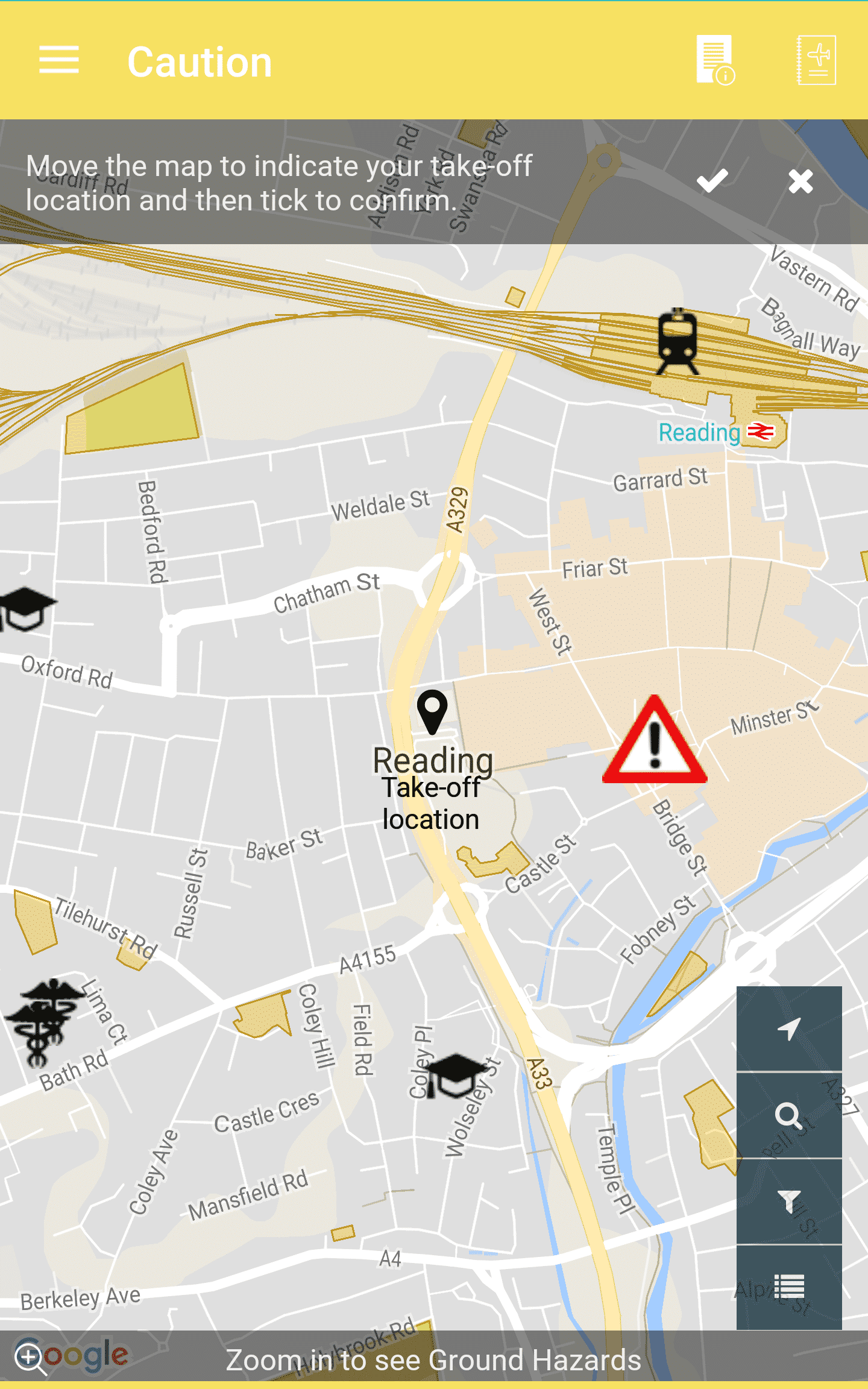 Screenshot of Flysafe App