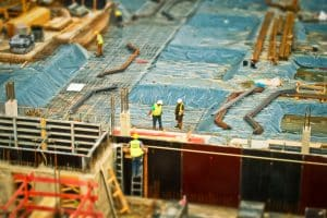 Men Working on Construction Site
