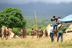 Film Crew Filming Native People