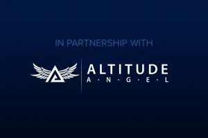 Altitude Angel Logo on Blue Background
