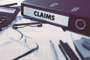 Claims Label On Ring Binder
